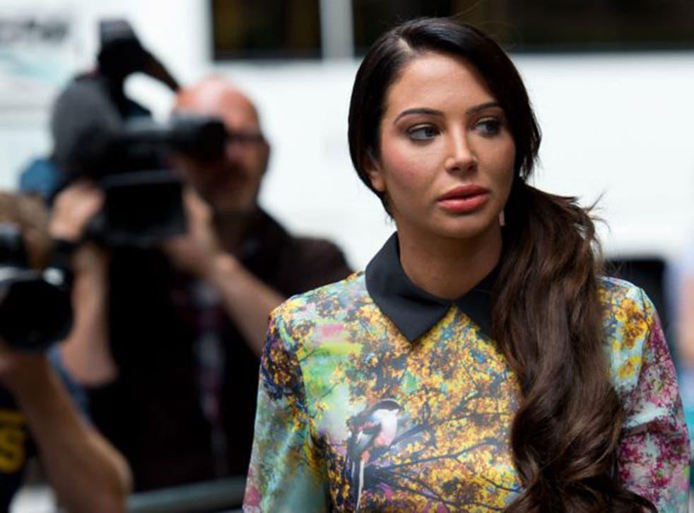 Tulisa arriving at Southwark Crown Court on 15 July