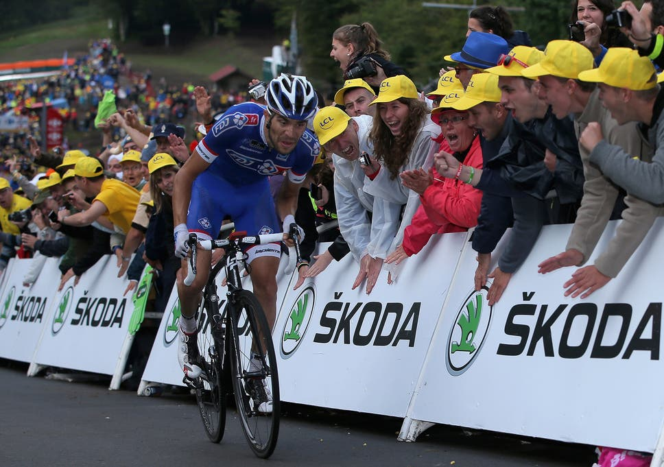 Frenchman Thibaut Pinot in action on stage 10 of the Tour ed0940d2d