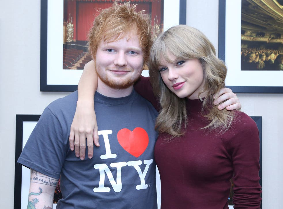 Ed Sheeran hanging out with famous friend Taylor Swift
