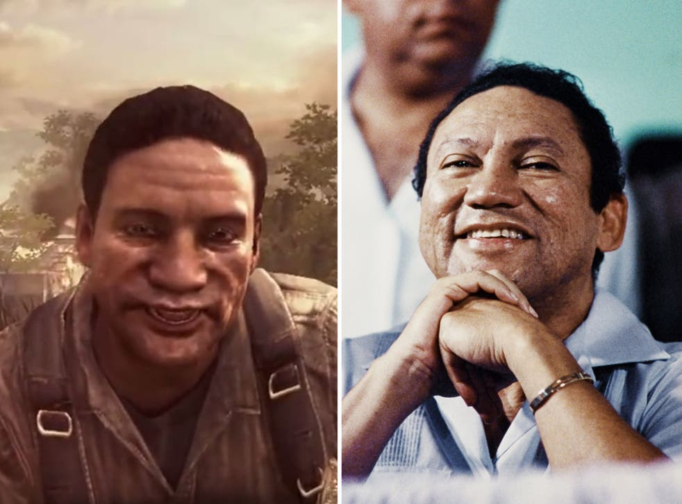 The former dictator of Panama Manuel Noriega is suing the makers of Call of Duty over his portrayal in the game (left)