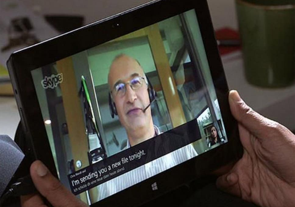 Multilingual The Skype Translator In Action
