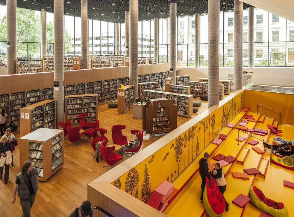 An interior view of the Library of Birmingham, described as having 'shaken the traditional perception of a library'