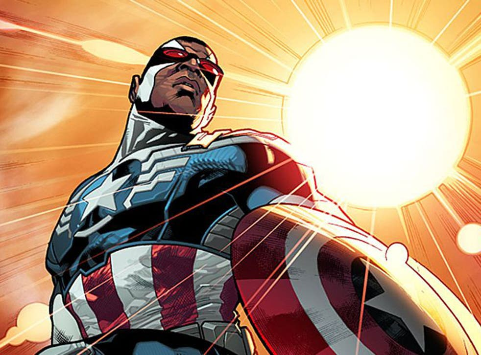 Sam 'Falcon' Wilson will take over from Steve Rogers to be the first black Captain America