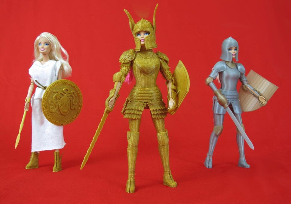 3d printed medieval armour turns barbie into a dragon slayer the