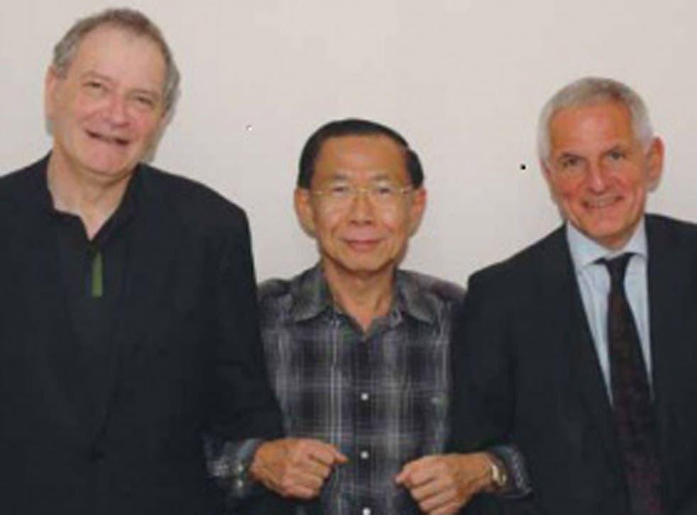 Professors David Cooper, Praphan Phanuphak and Joep Lange, the co-directors of HIVNAT, a joint research centre in Bangkok