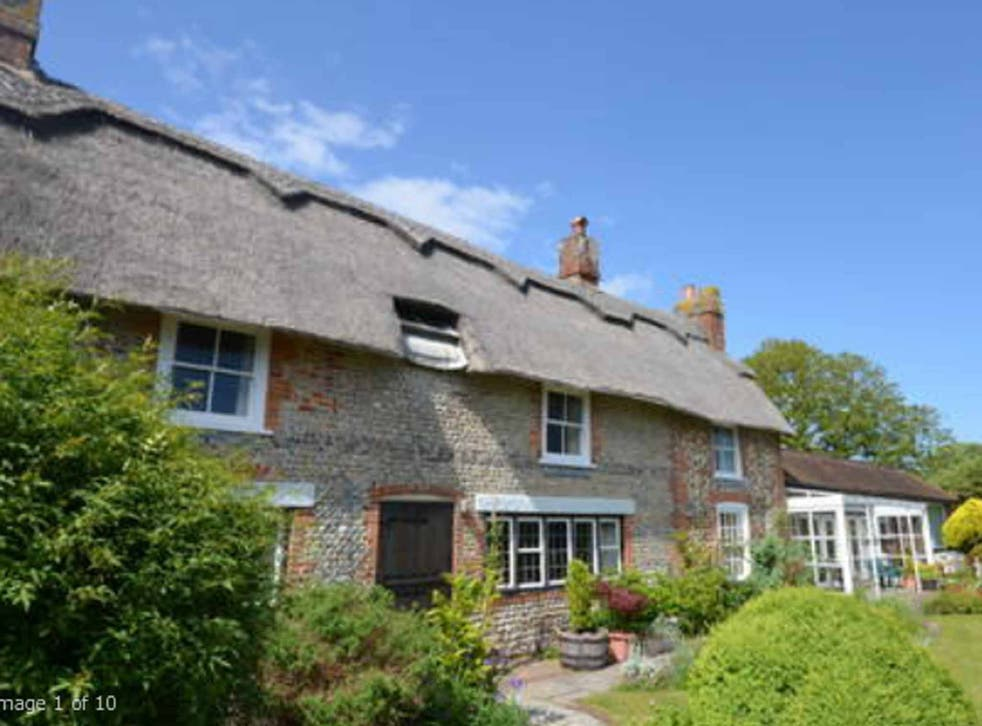 William Blake's Grade-II-listed thatched cottage at Felpham in Sussex, on the market for £650,000 with Jackson Stops