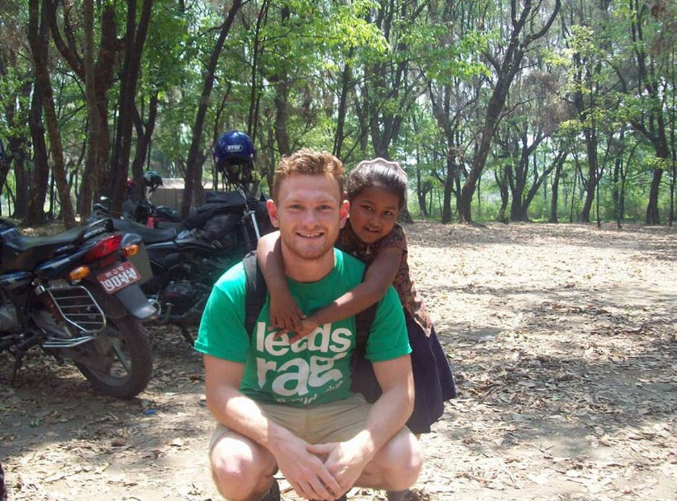 Richard Mayne in April 2014 volunteering for a children's charity in Nepal
