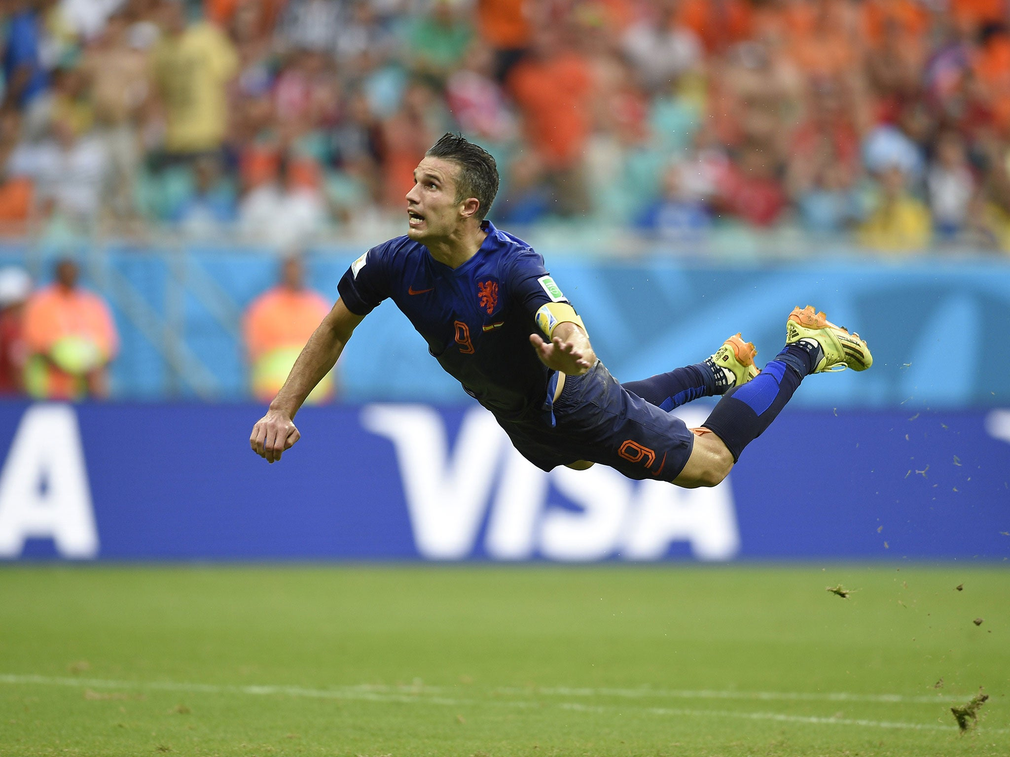 Image result for van persie diving header