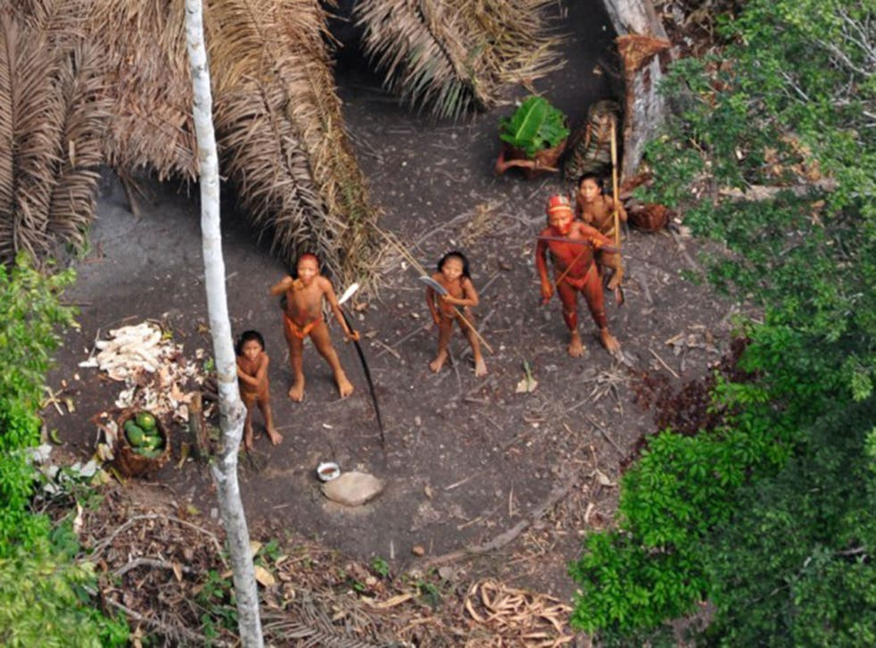 At home: Amazon tribespeople are being contaminated by drugs and disease
