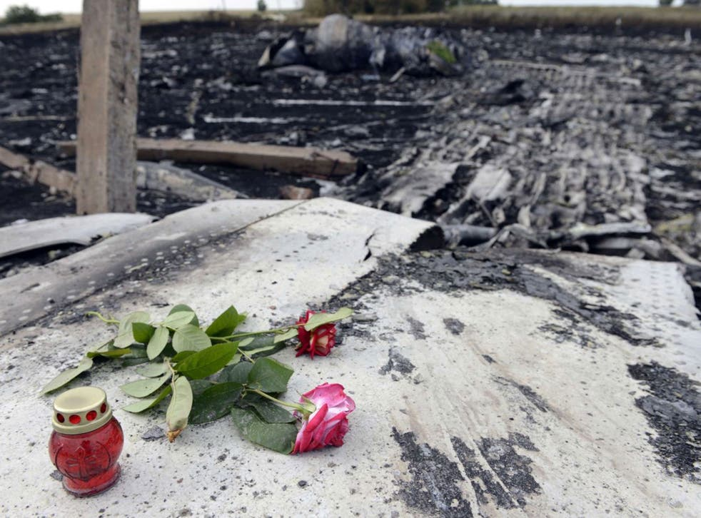 Aftermath: Flowers at the crash site