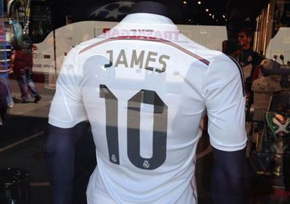 finest selection b867b 46d77 James Rodriguez to Real Madrid: 'James 10' shirts already on ...