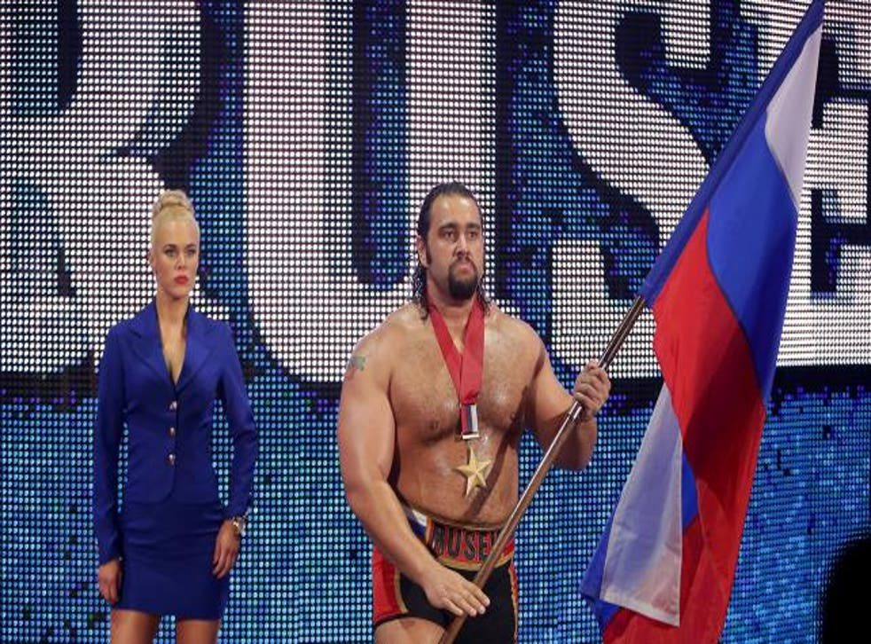 """Actually from Bulgaria, Rusev is portrayed as a pro-Russian """"brute"""""""