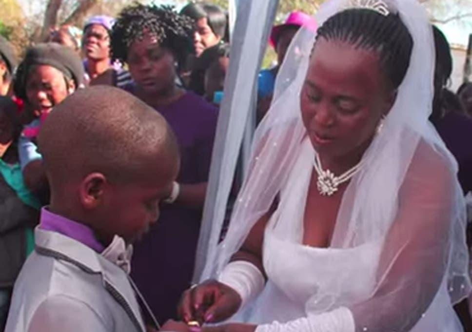 Saneie Masilela, 9, marries Helen Shabangu, 53 years his senior, for