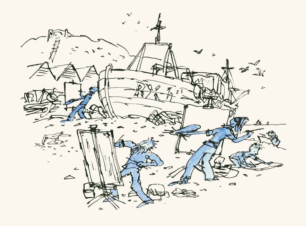 Quentin Blake's 'Artists on the beach'