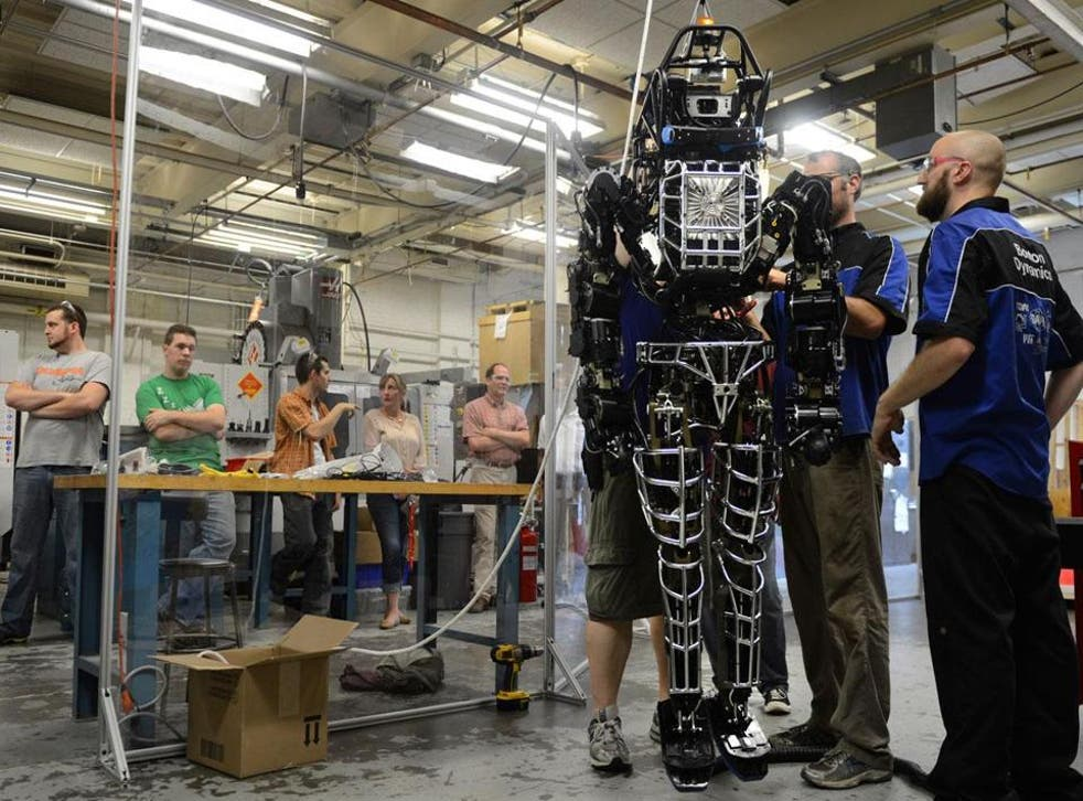 The ATLAS robot as seen competing in the Darpa Robotic Challenge