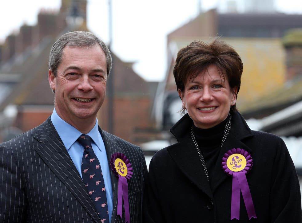 Nigel Farage has joined Diane James on the campaign trail
