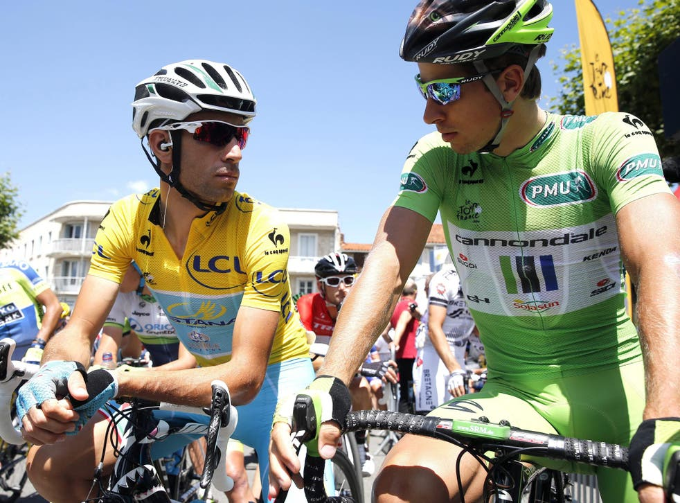 Peter Sagan (right) has an unassailable lead in the sprinters' points competition