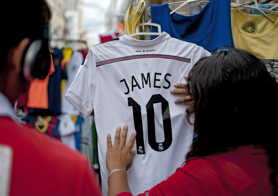96df1e537d3 Real Madrid sell £20m worth of James Rodriguez replica shirts