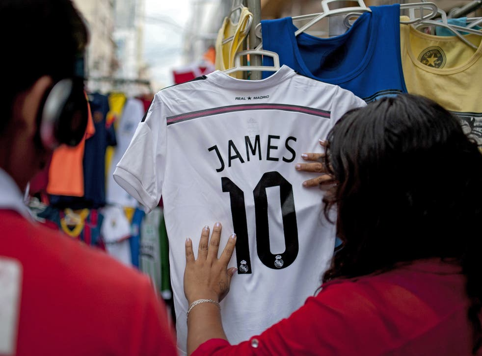 A James Rodriguez shirt on sale