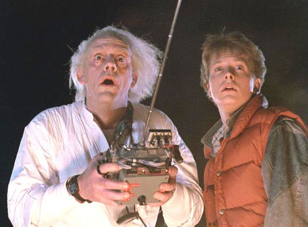 Michael J Fox and Christopher Lloyd in 1985's Back to the Future