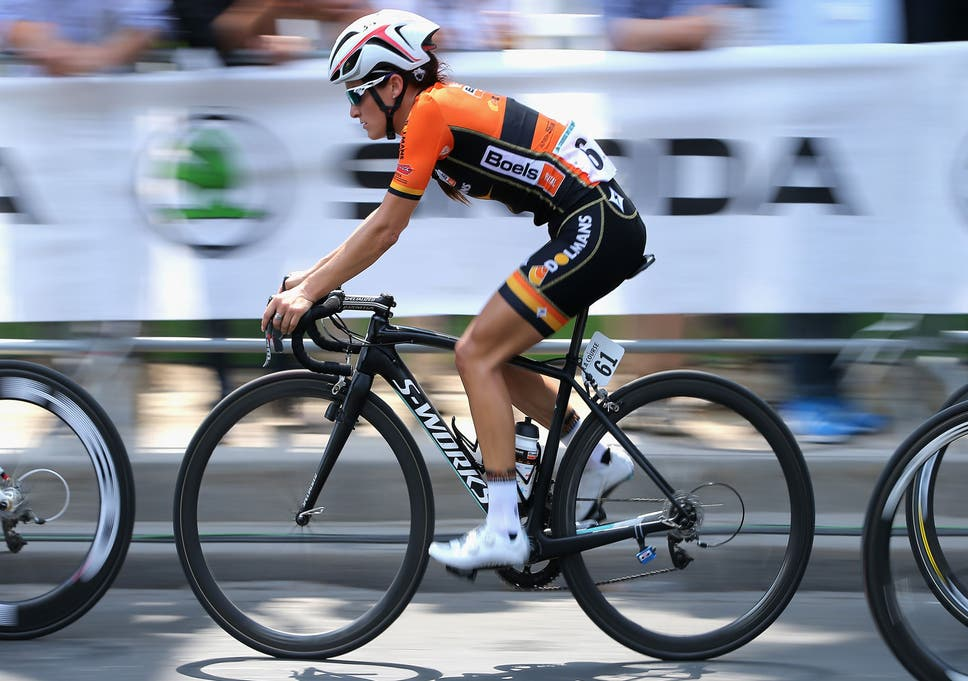 be1a34915 Sport. Britain s Lizzie Armitstead in action on Sunday during La Course