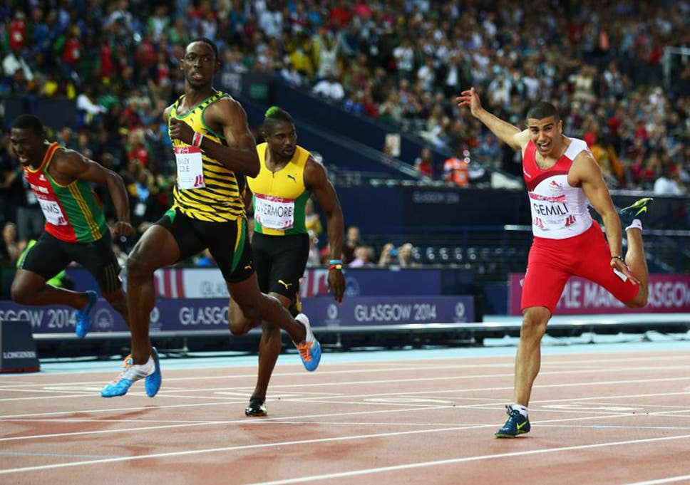 Kemar Bailey-Cole shades Adam Gemili in the 100m final