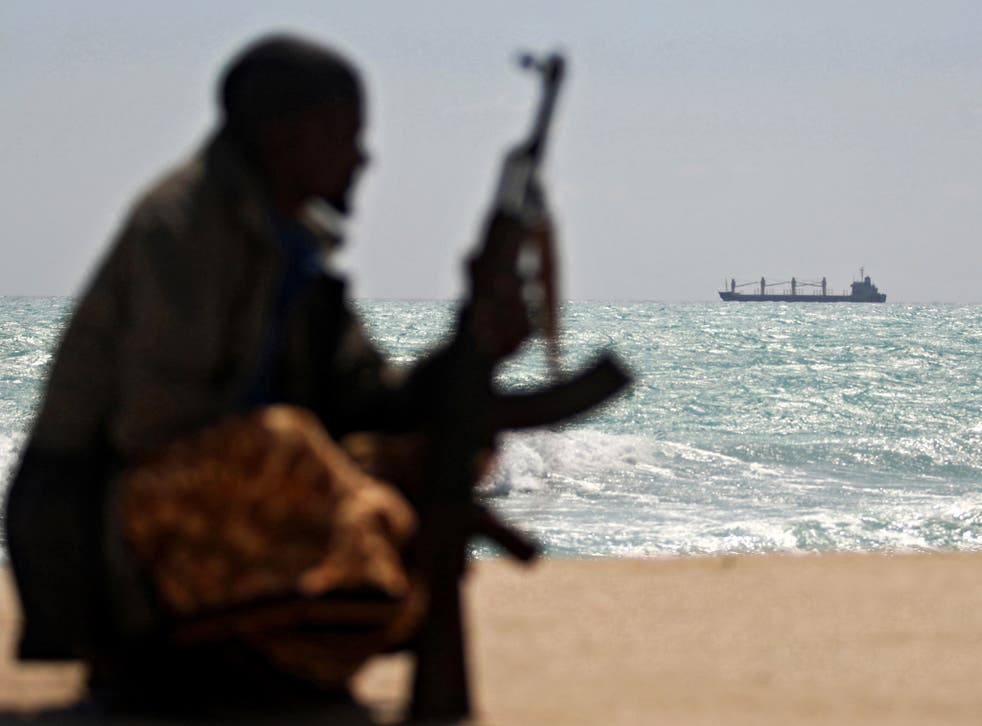 An armed Somali pirate, pictured in 2010