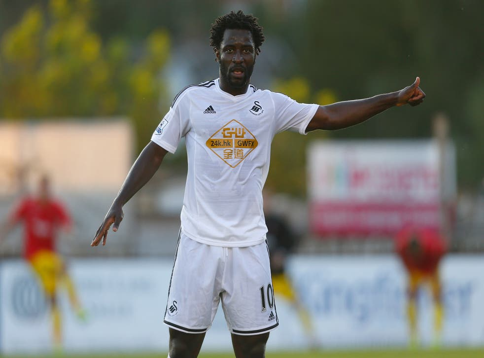 Swansea's Wilfried Bony has been linked with a move away from South Wales