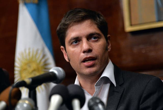 Argentina's Economy Minister Axel Kicillof speaks during a press conference at the Argentina Consulate July 30, 2014 in New York as talks into Argentina's debt failed