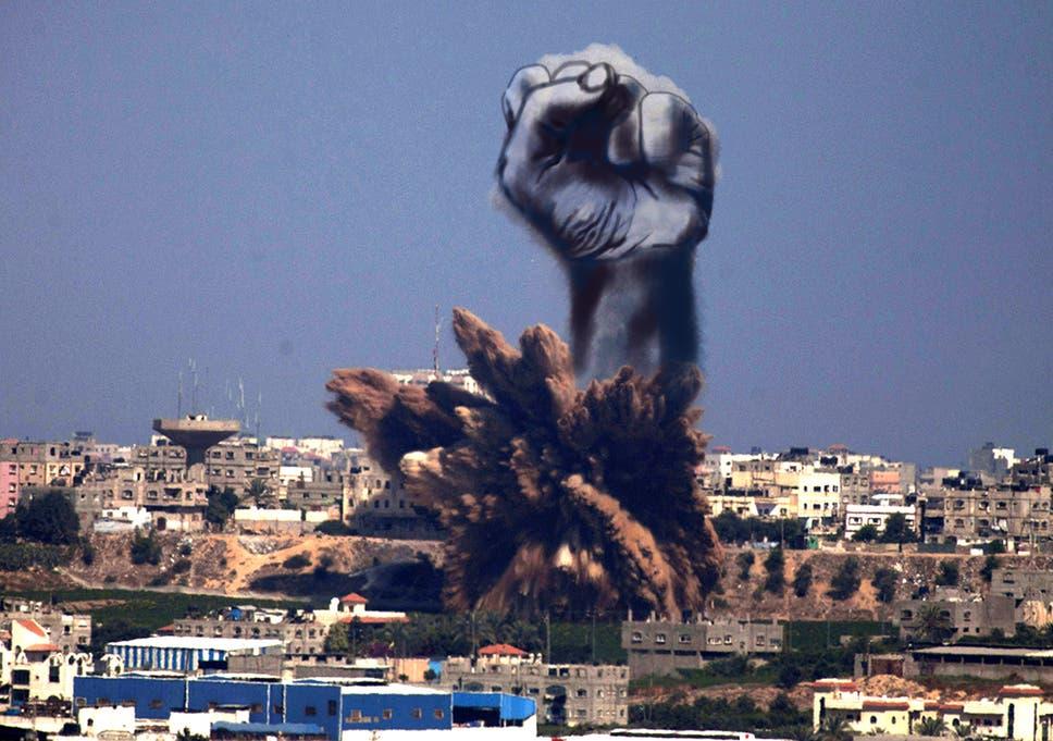 Palestinian Artists Transform Smoke Filled Gaza Into Symbol Of