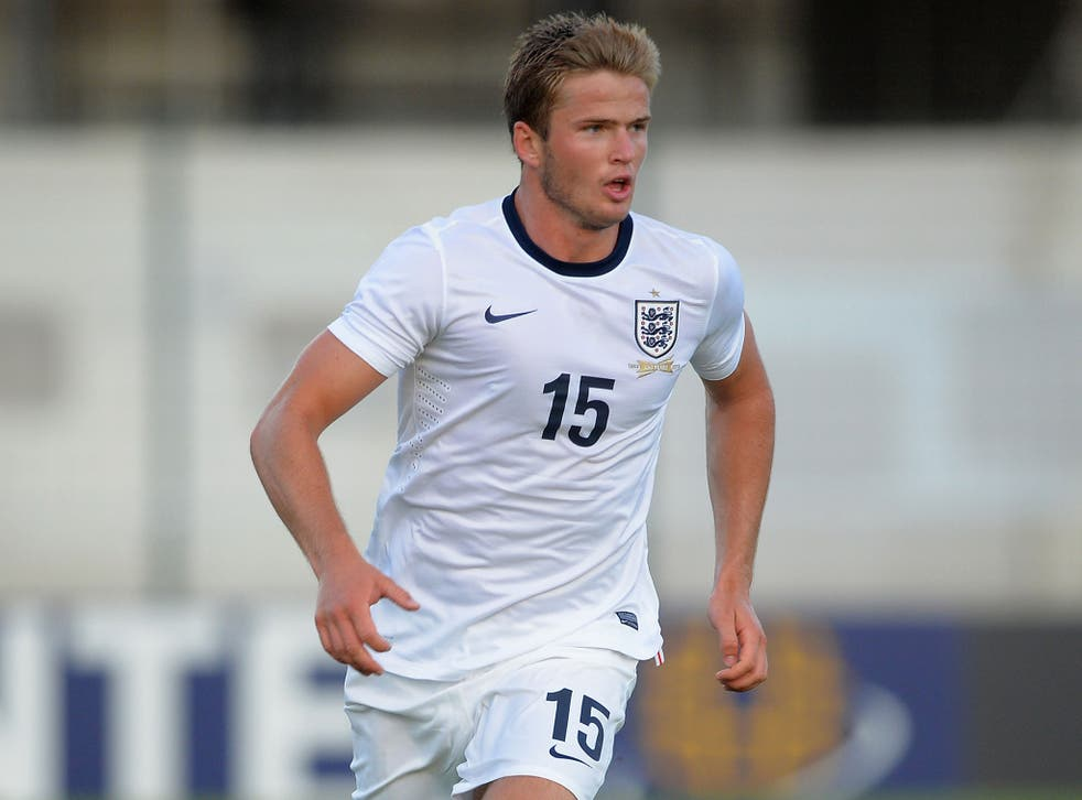 Eric Dier in action for the England Under-21s earlier this year