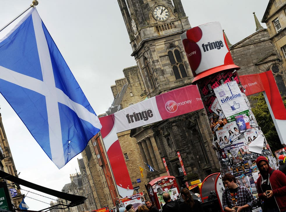 The show was being performed at the Edinburgh Festival Fringe