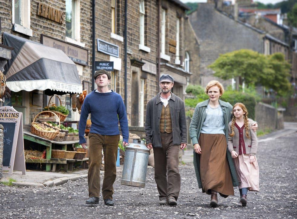 Meet the Middletons: (from left to right) Bert Middleton (Tom Varey); John (John Simm);  Grace (Maxine Peake); Mary (Chloe Rowley)