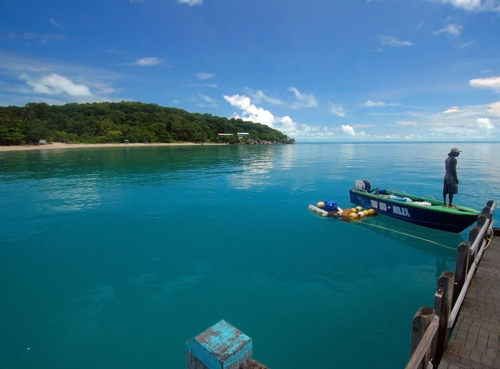 The low-lying islands of the Torres Strait, such as Yam Island, are at risk of becoming uninhabitable