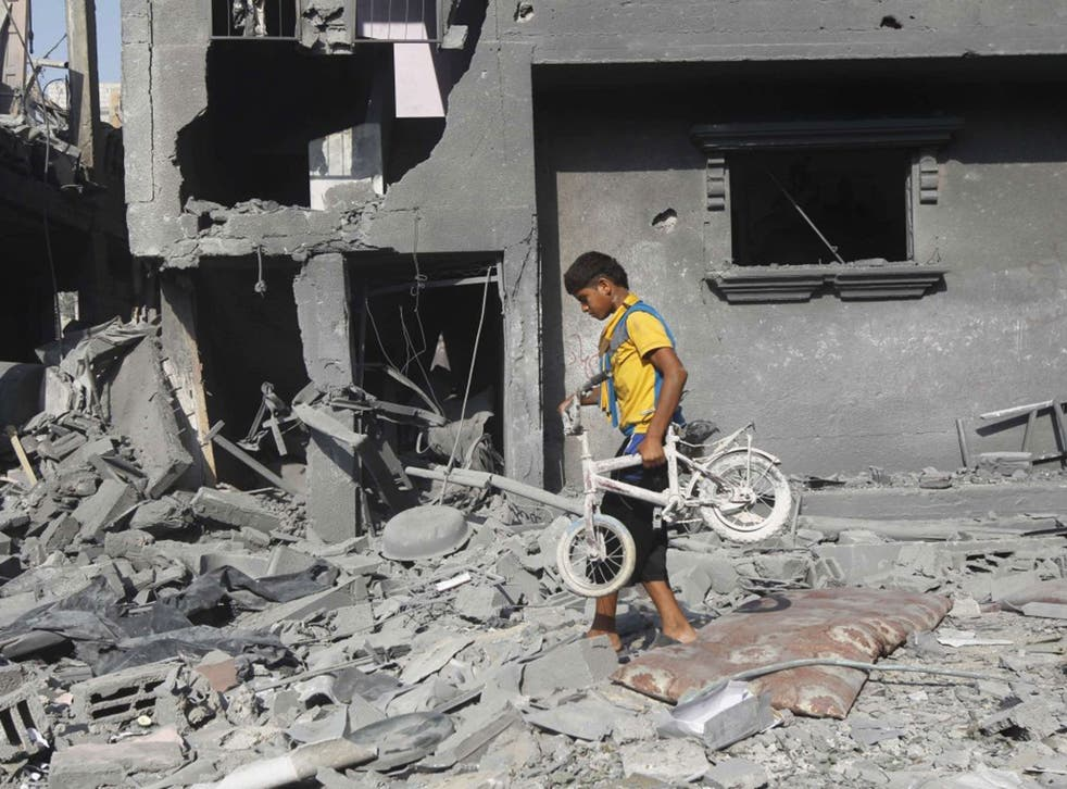 A Palestinian in Rafah after it was attacked yesterday