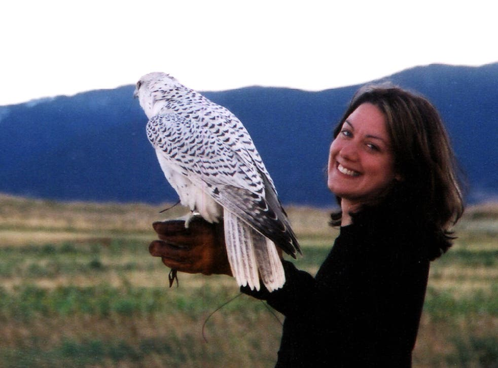 Helen with a gyrfalcon
