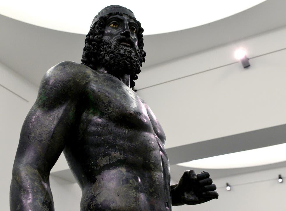 One of the Riace Bronzes at Reggio Calabria National Archeological Museum
