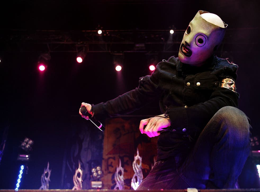 Corey Taylor of Slipknot performs on stage in Sydney