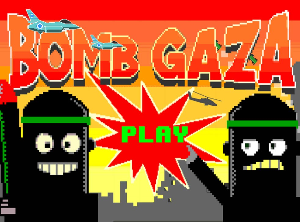 A screenshot of the app Bomb Gaza in the Google Play store
