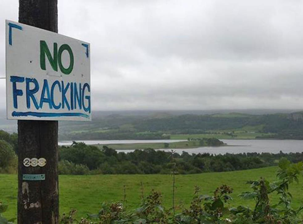 Protesters set up camp outside the Belcoo quarry site in Northern Ireland last month