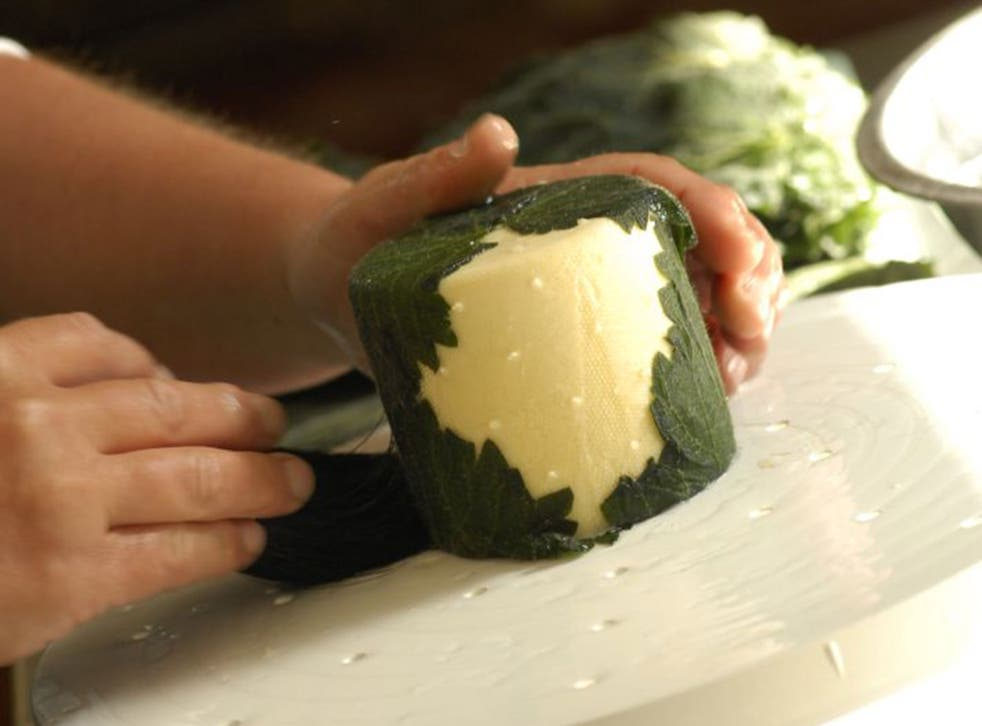 Whey to go: Yarg cheese is covered in mouldy stinging nettles, but has finally made it into the US