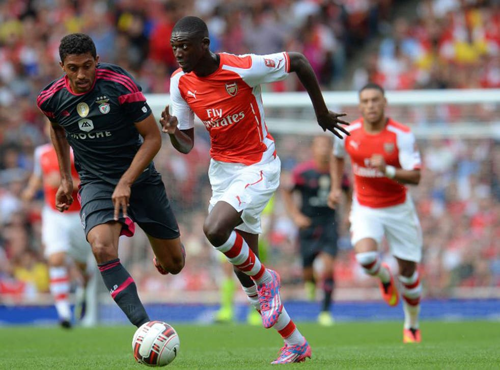 Yaya Sanogo scored four times against Benfica during Arsenal's Emirates Cup victory on Saturday