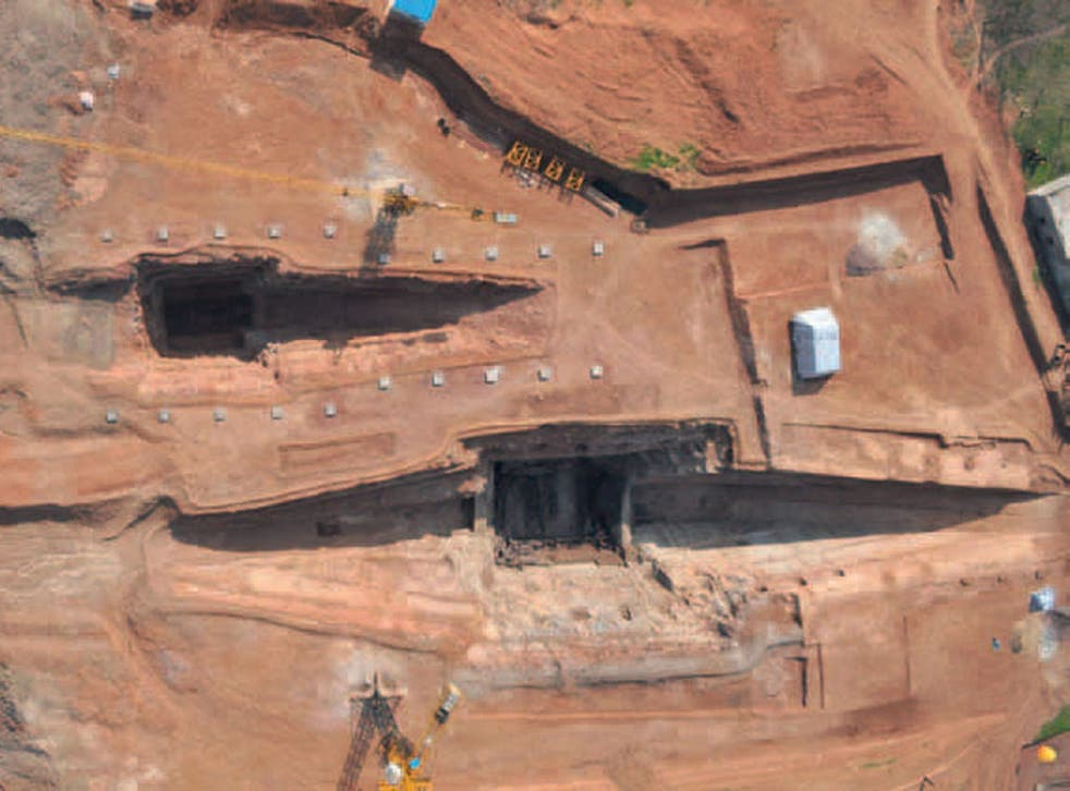 The tomb was discovered in Jiangsu province