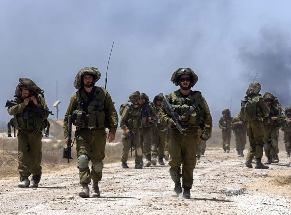 IDF troops on patrol along Israel's border with the Gaza strip