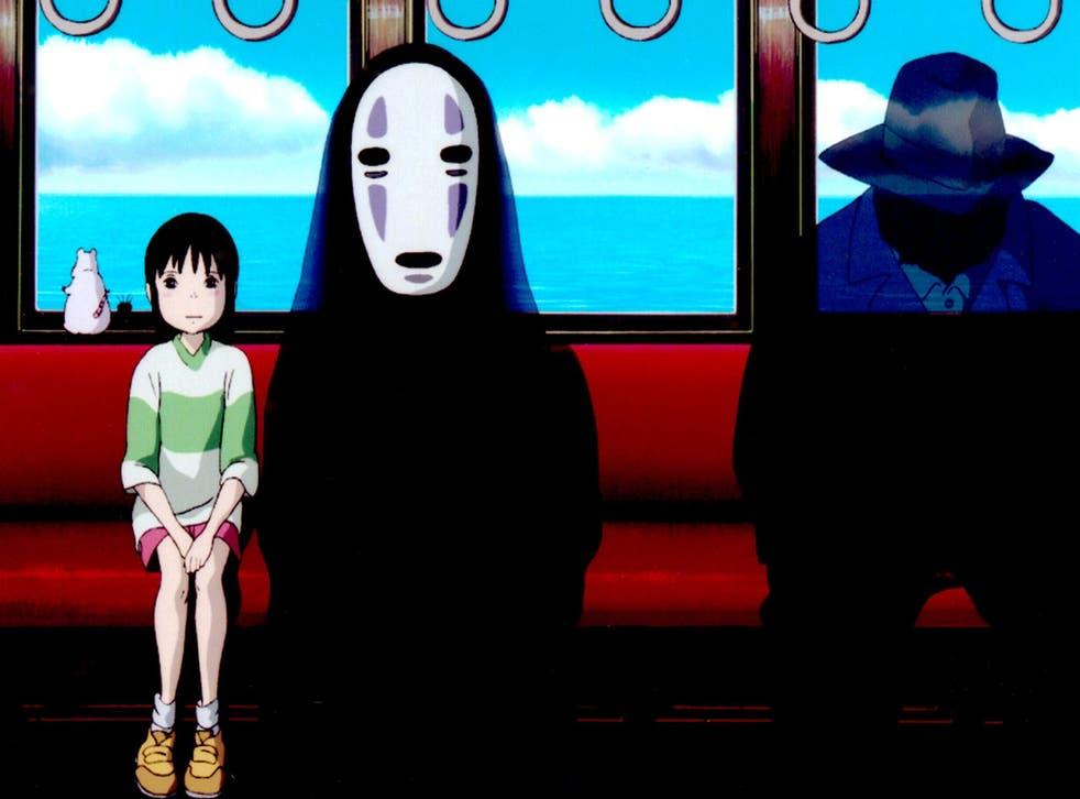 Chihiro and No Face in Studio Ghibli's Spirited Away (2001)