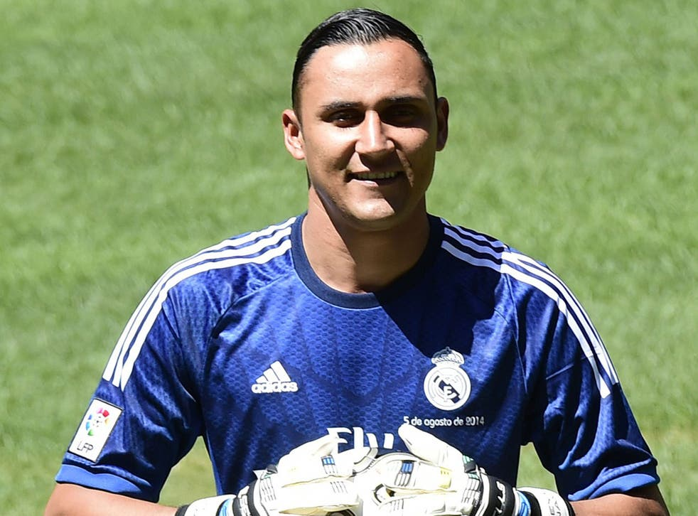 Keylor Navas was unveiled at Real Madrid today