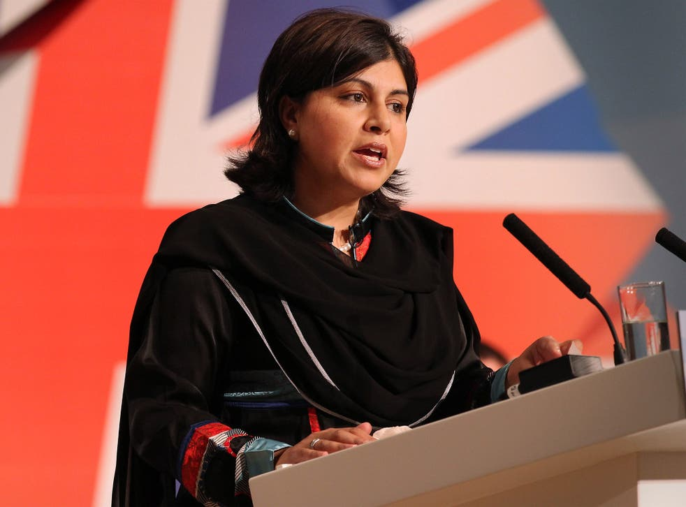 Baroness Warsi resigned over the Government's position on the conflict in Gaza