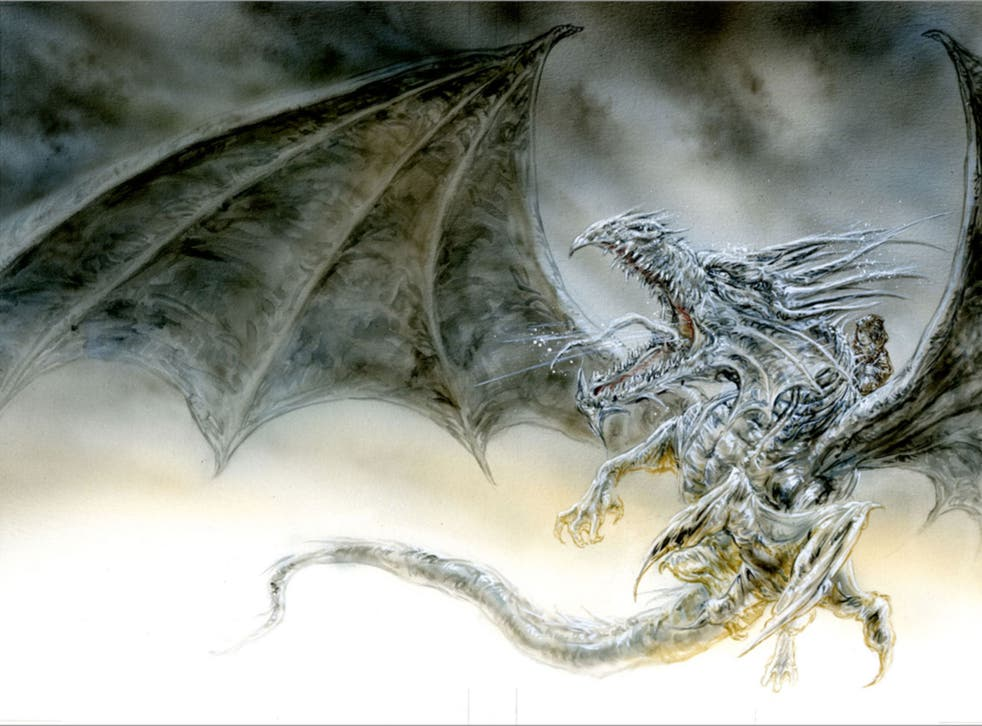 A sample sketch for a new edition of George RR Martin's 'The Ice Dragon' by Spanish artist Luis Royo