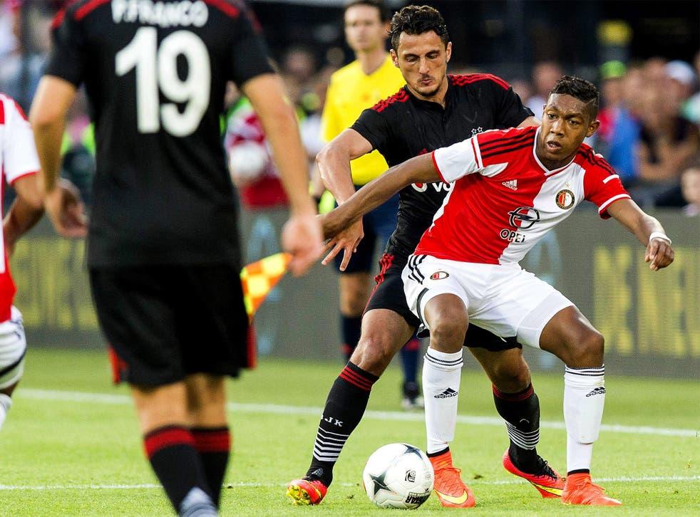 Feyenoord's Jean Paul Boëtius in action against Besiktas, during a Champions League qualifier last week