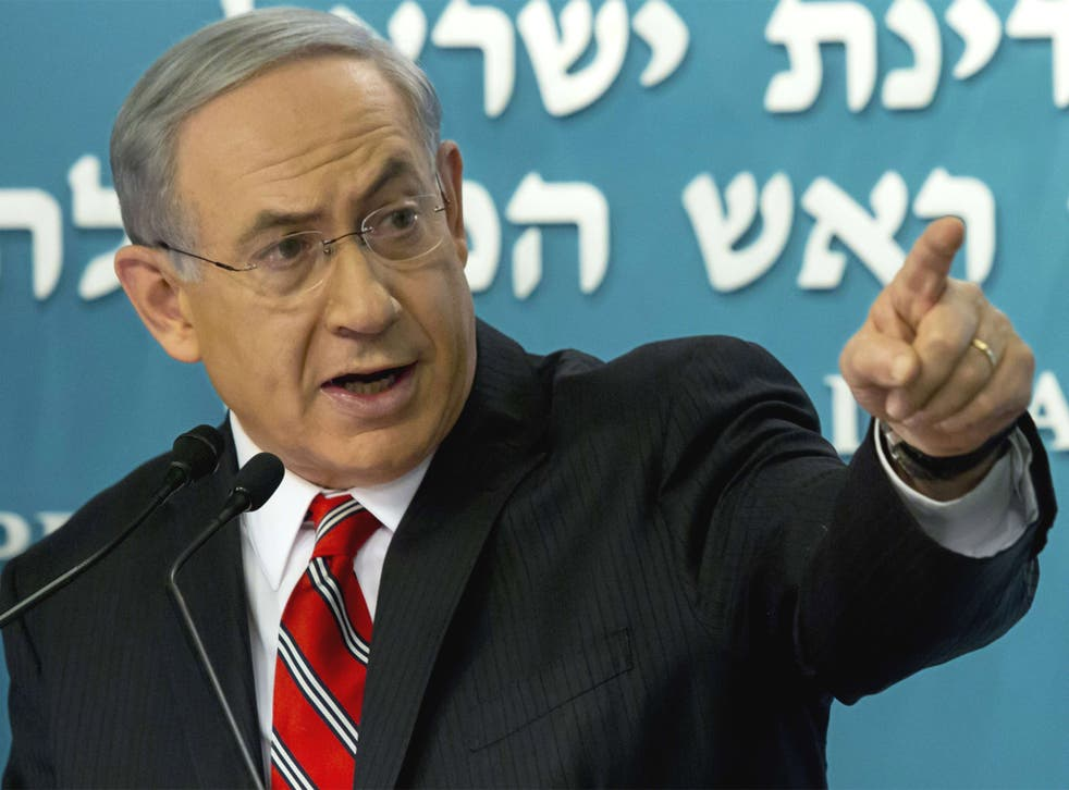 Israeli Prime Minister Benjamin Netanyahu gives a press conference at his Jerusalem offices